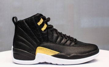 Air Jordan 12 Reptile Black Metallic Gold AO6068-007 Release Date