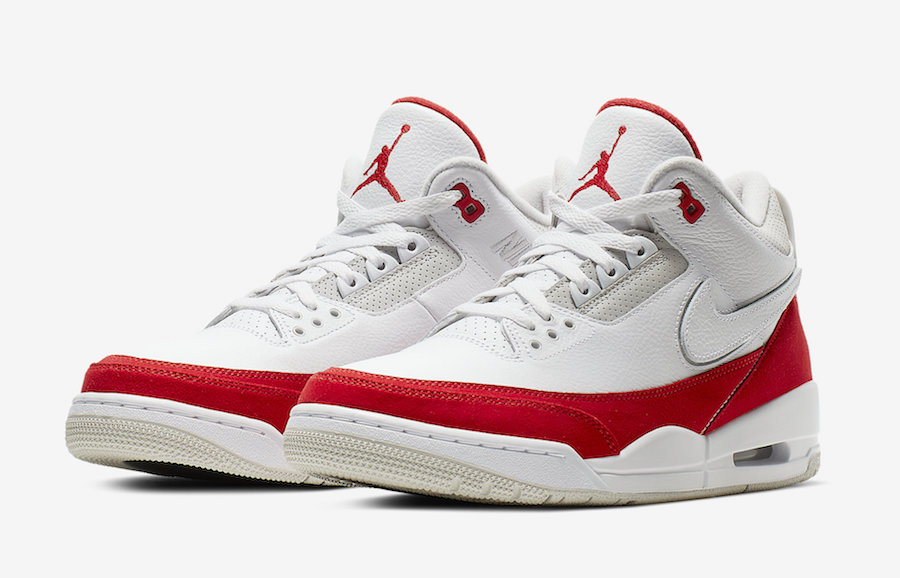 Air Jordan 3 Tinker White University Red March 2019 Release Date