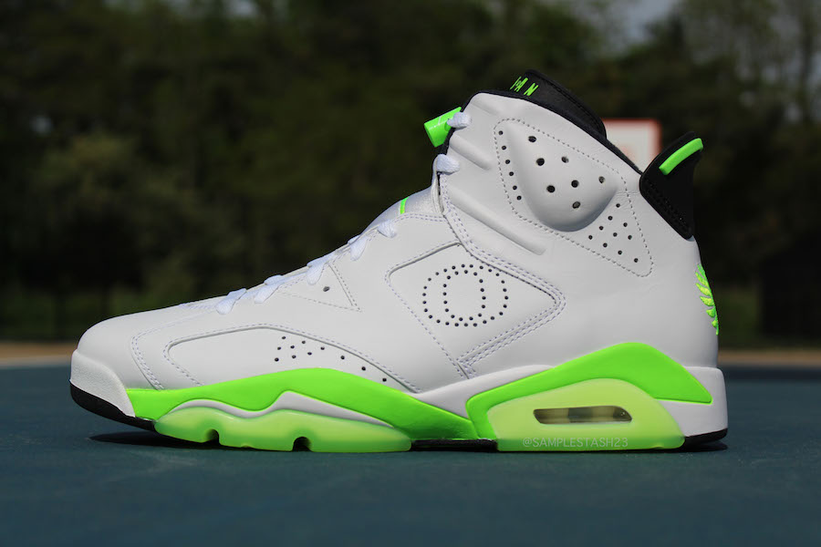 Air Jordan 6 Oregon Womens Basketball PE White Green