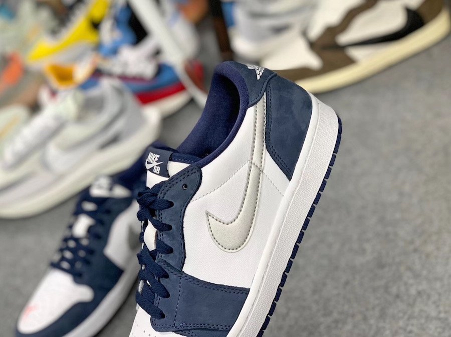 Eric Koston Nike SB Air Jordan 1 Low Midnight Navy Ember Glow CJ7891-400 Release Info