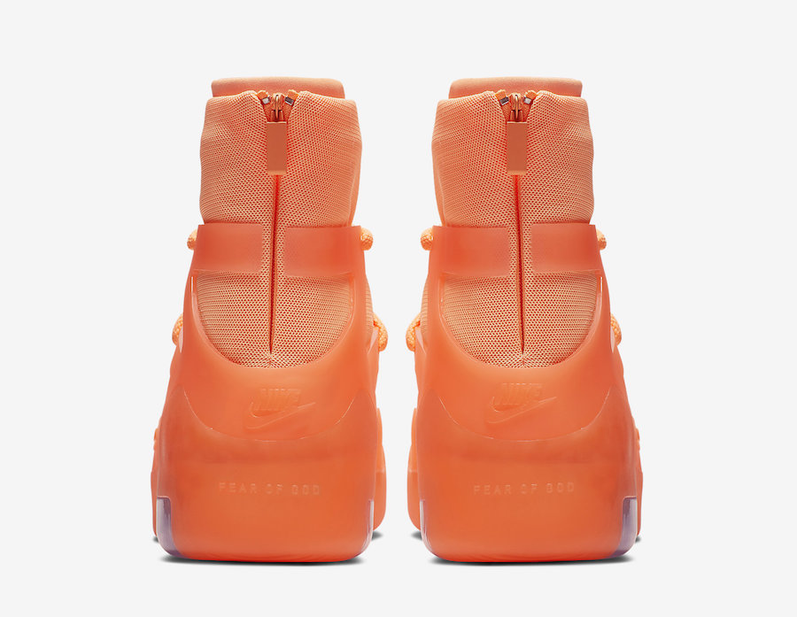 Nike Air Fear of God 1 Orange Pulse AR4237-800 Release Date