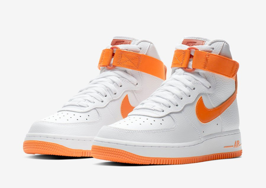 c25ada8ed Nike Air Force 1 High White Orange 334031-109 Release Date