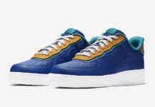 sale retailer 488ad bcbdb Nike Air Force 1 Low  Indigo Force  Features Double Layers