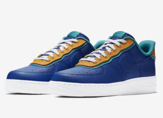best website d8676 1829f Nike Air Force 1 Low Indigo Force Features Double Layers
