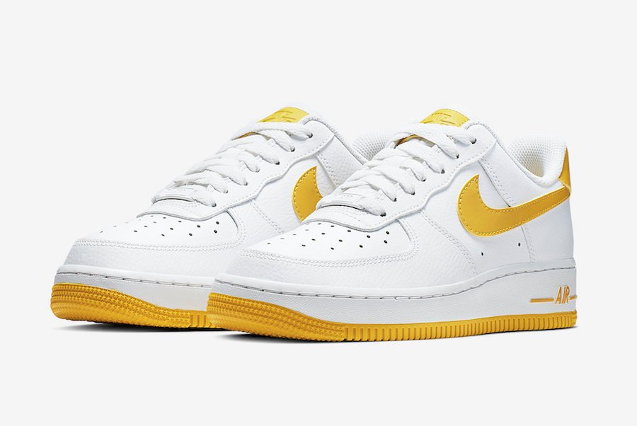 Nike Air Force 1 Low White Yellow Ah0287 103 Release Date Sneakerfiles