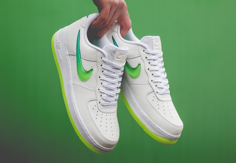 Nike Air Force 1 White Hyper Jade Volt AT4143 100 Release
