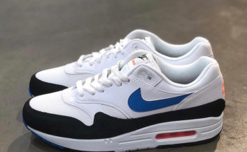 Nike Air Max 1 White Photo Blue Total Orange AH8145-112 Release Date