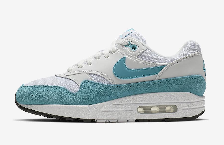 Nike Air Max 1 White Turquoise 319986
