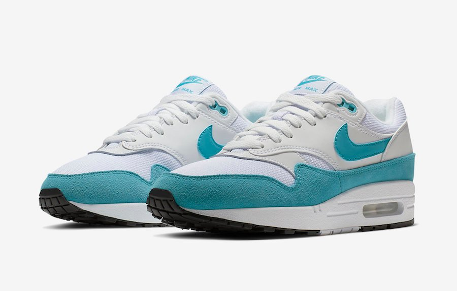 Nike Air Max 1 White Turquoise 319986 117 Release Date