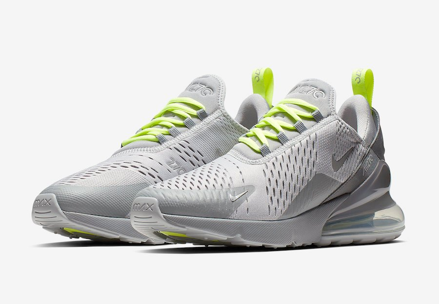 check out 9a063 2f90e Nike Air Max 270 Wolf Grey Volt CD7337-001 Release Date ...