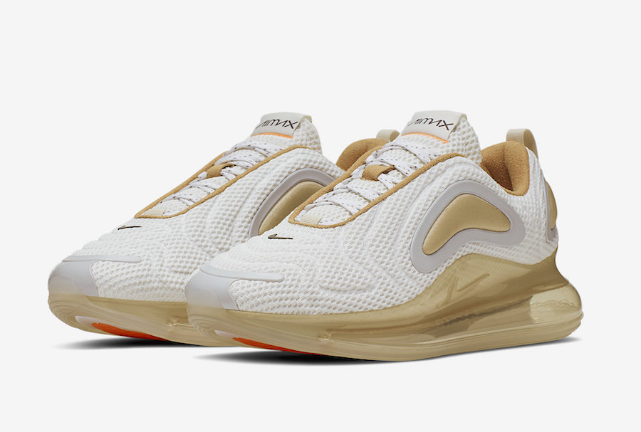 Available Now Nike Air Max 720 in Gold and White HOUSE