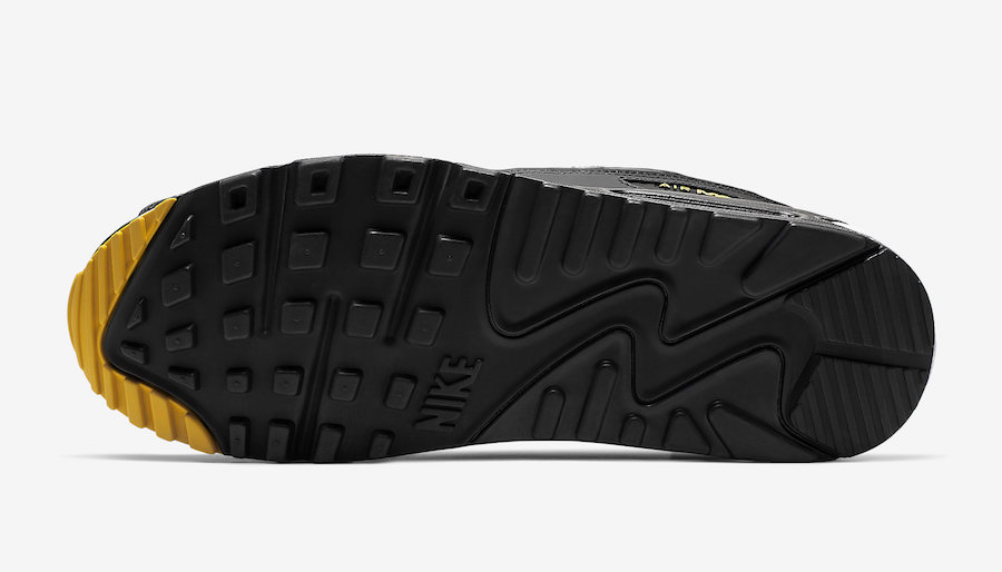Nike Air Max 90 Black Yellow AJ1285-022 Release Date