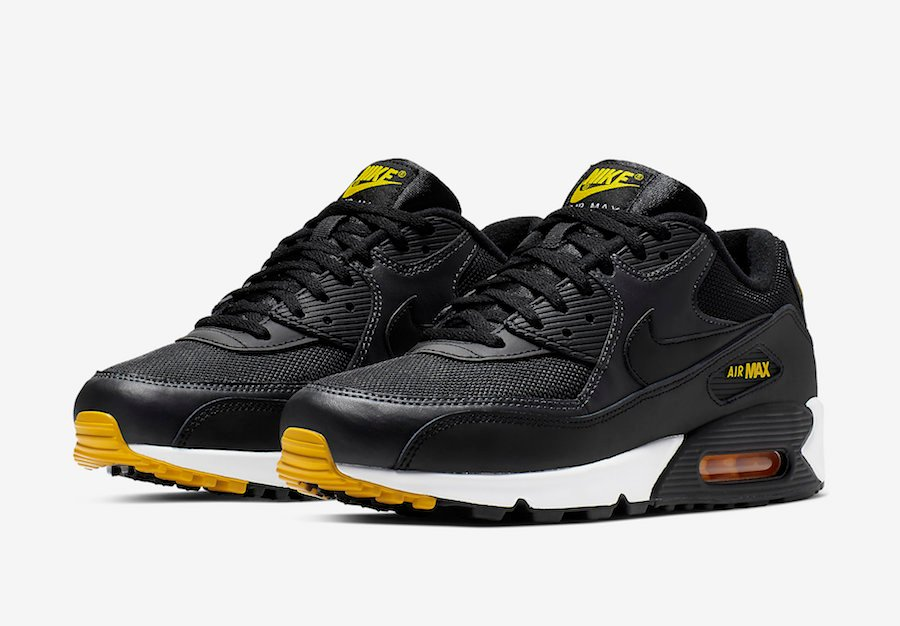 online store 7ce13 5536e Nike Air Max 90 Black Yellow AJ1285-022 Release Date