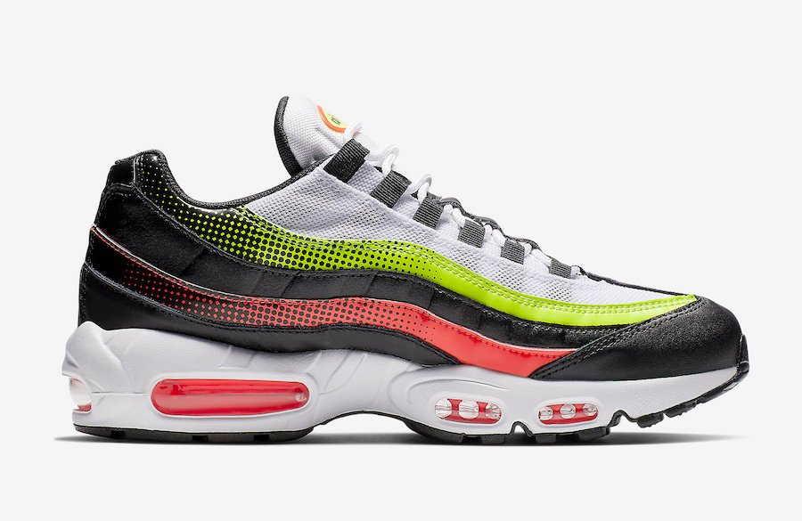 Nike Air Max 95 White Black Volt Solar Red AJ2018-004 Release Date