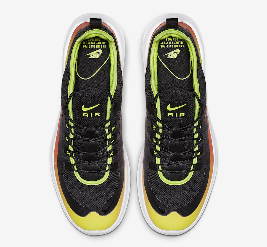 Nike Air Max Axis Premium Black Volt Total Orange AA2148-006 Release Date