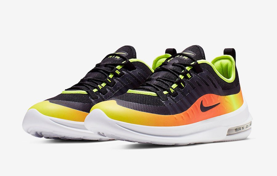 66ad60bd6c3ba Nike Air Max Axis Premium Black Volt Total Orange AA2148-006 Release Date