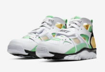 Nike Air Trainer Huarache White Gold Green 679083-108 Release Date