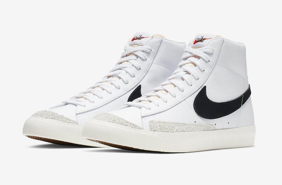 646ae9b941554 Nike Blazer Mid 77 Vintage Black Sail White BQ6806-100 Release Date ...