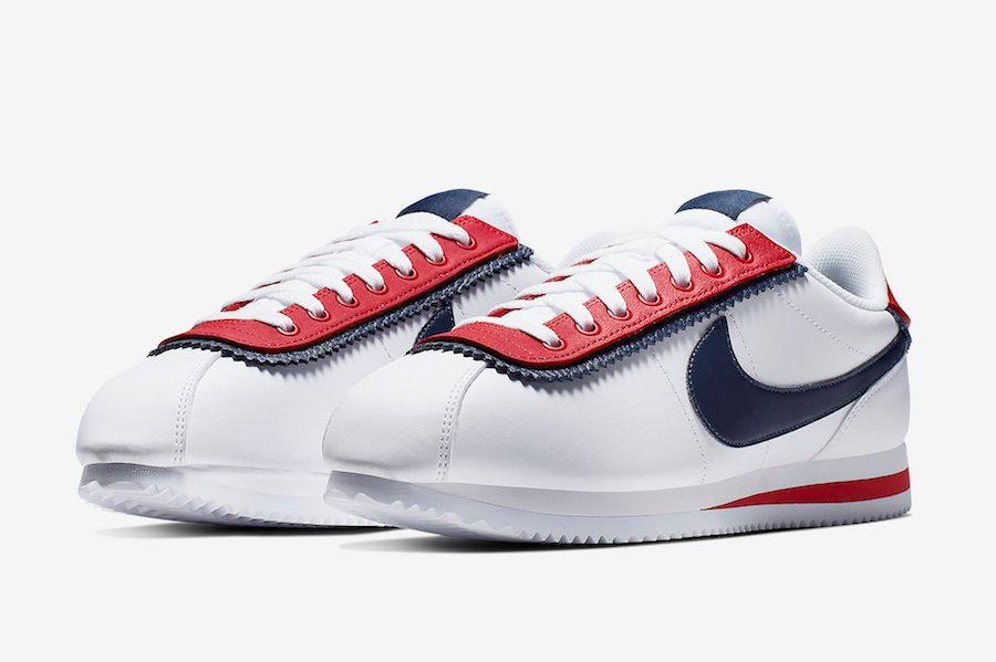 size 40 460d5 47a00 Nike Cortez Basic SE White University Red CD7253-100 Release ...