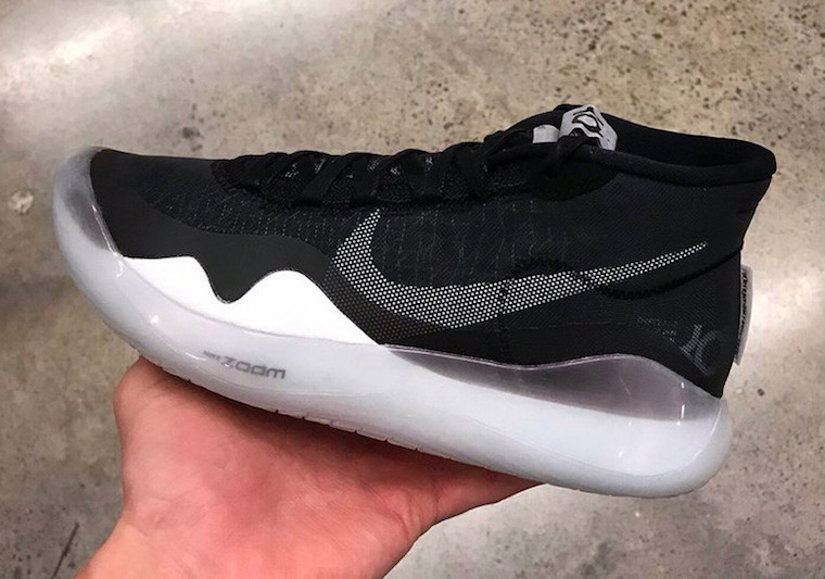 84d5bcbd6550 Nike KD 12 Black Pure Platinum White AR7229-001 Release Date
