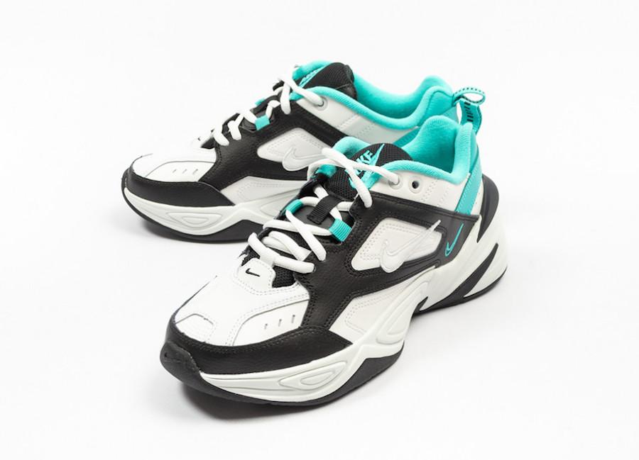 online store 26afd 990a6 Nike M2K Tekno White Black Hyper Jade AO3108-102 Release Date
