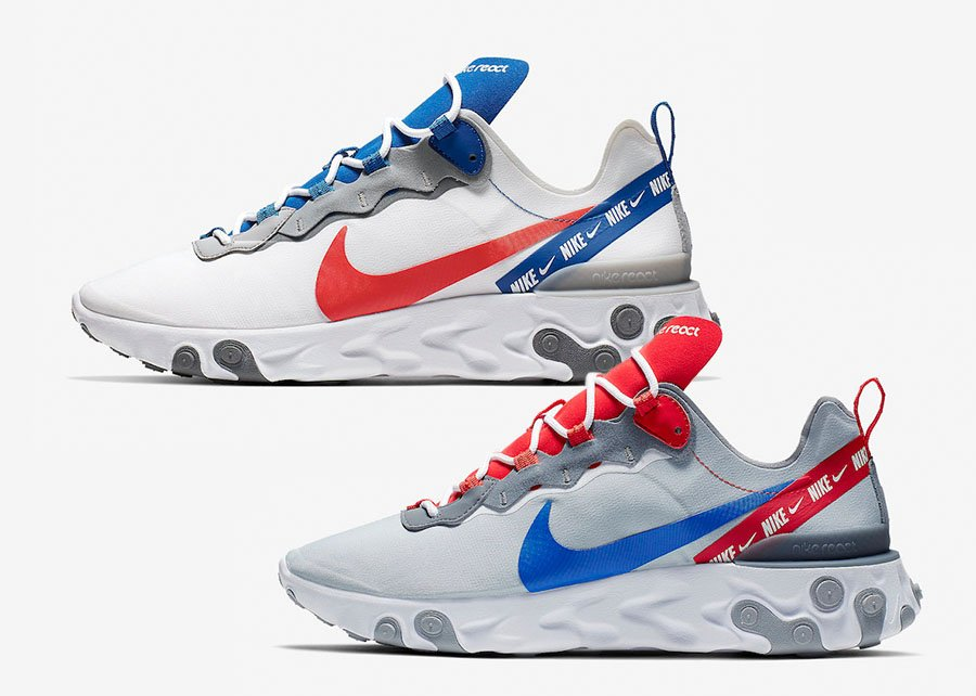 best loved 9ed2d 9a744 Nike React Element 55 CD7340-001 CD7340-100 Release Date