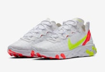 Nike React Element 55 White Volt Crimson CJ0782-100 Release Date