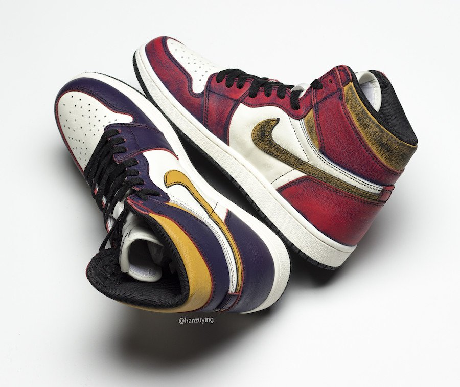 Nike SB Air Jordan 1 Lakers Chicago CD6578-507 Release Date