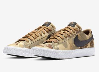 Nike SB Blazer Low Desert Camo 889053-200 Release Date