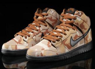 Nike SB Dunk High Desert Camo BQ6826-200 Release Date