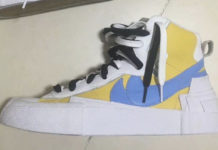 Sacai Nike Blazer Mid White Yellow Blue Release Date