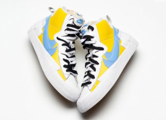Sacai Nike Blazer Yellow Blue Release Date