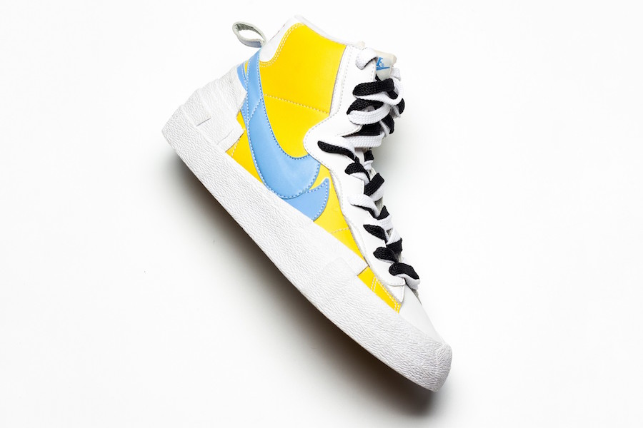 voz Misterio pasión  Detailed Look at the Sacai x Nike Blazer Mid in Yellow and Blue |  SneakerFiles