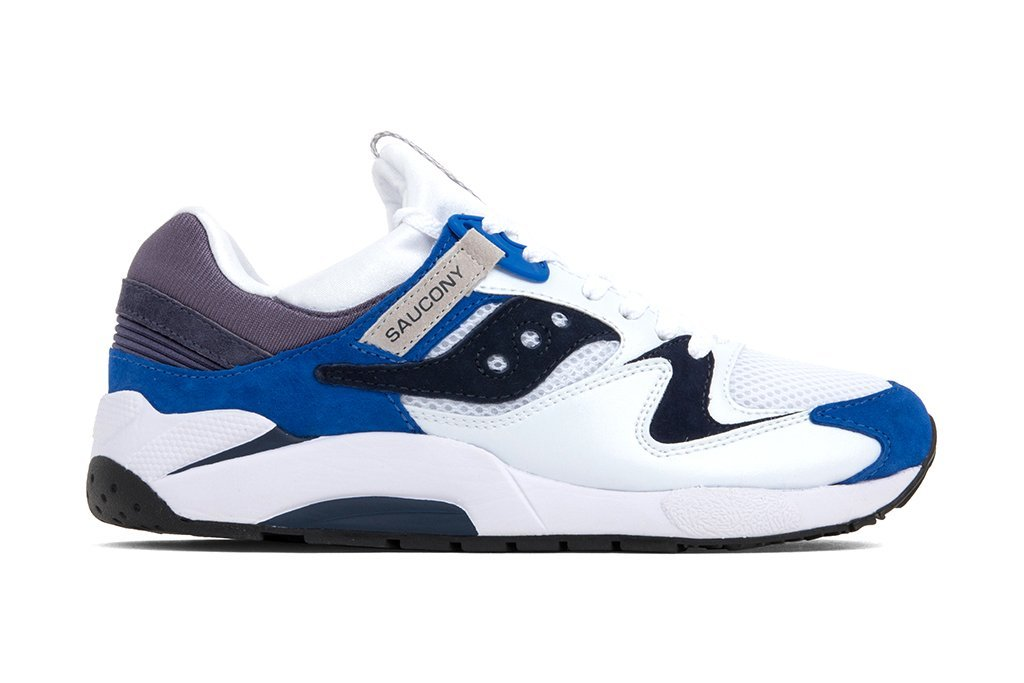 Saucony Grid 9000 White Blue Release Date