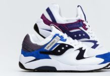 Saucony Grid 9000 White Blue White Purple Release Date