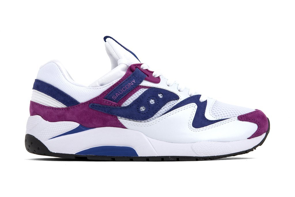 Saucony Grid 9000 White Purple Release Date