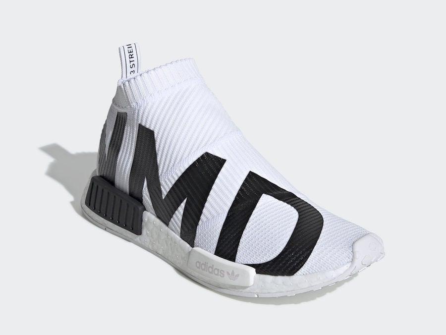 adidas NMD CS1 Primeknit White Black