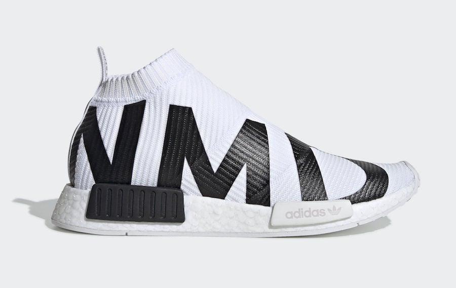 adidas NMD CS1 Primeknit White Black EG7538 Release Date