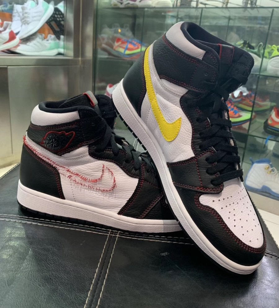 Air Jordan 1 Defiant White Black Gym Red Tour Yellow CD6579-071 Release Info