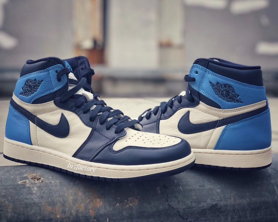 Air Jordan 1 High OG Obsidian University Blue 555088-140 Release Date
