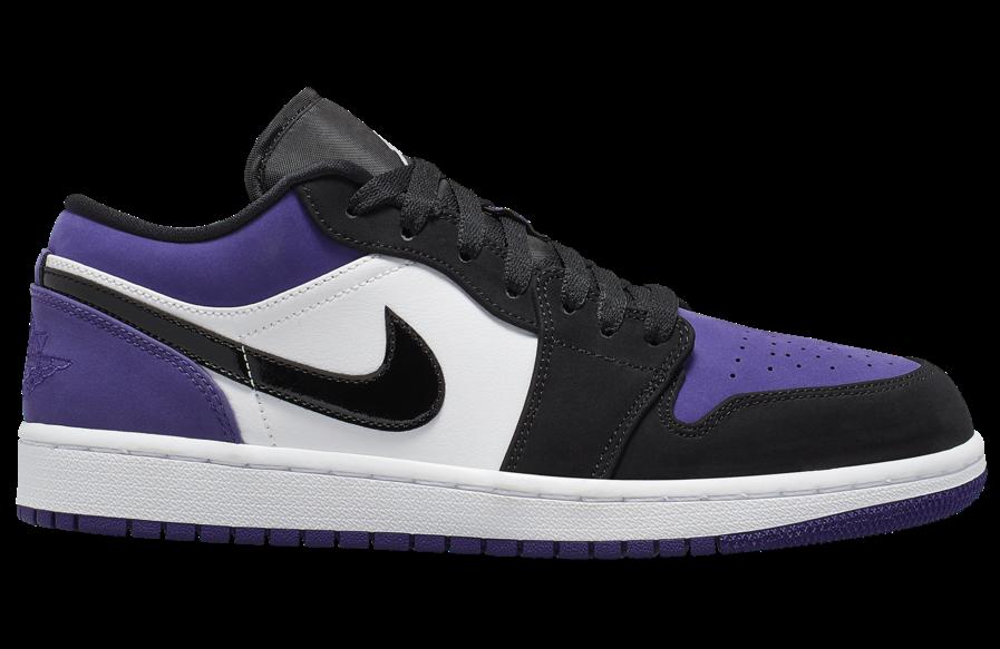 Air Jordan 1 Low Court Purple 553558-125 Release Details