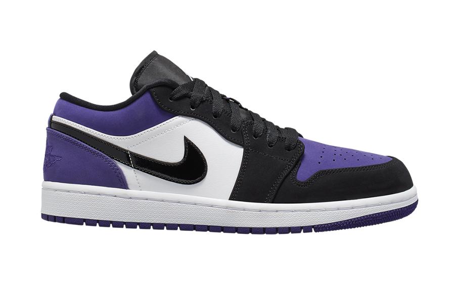 27634dab1462e1 Air Jordan 1 Low Court Purple 553558-125 Release Details