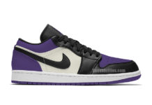Air Jordan 1 Low Court Purple 553558-125 Release Info