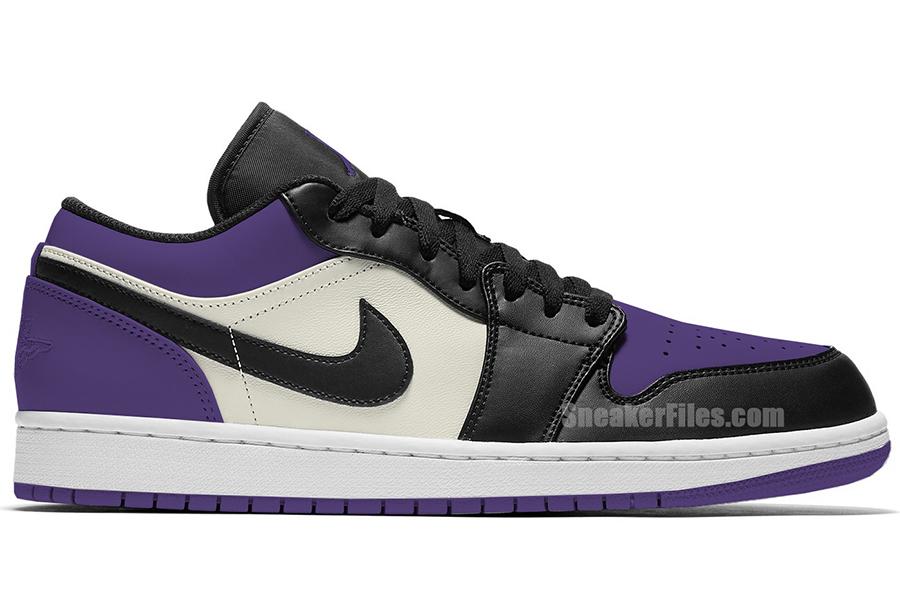 Air Jordan 1 Low Court Purple 553558-125 Release Info