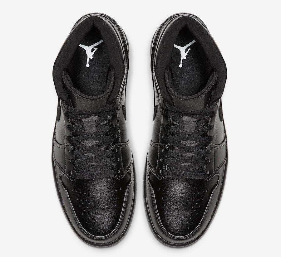 Air Jordan 1 Mid Triple Black 554724-090 Release Date