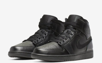 Air Jordan 1 Mid Triple Black 554724-090 Release Date