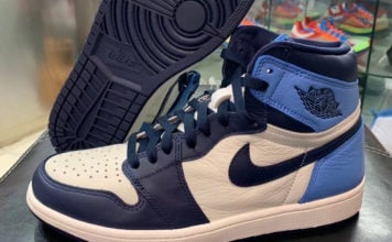 Air Jordan 1 Obsidian University Blue 555088-140 Release Info
