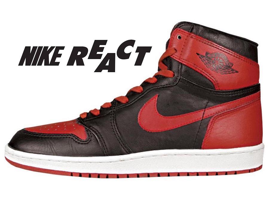 166016abbab64e Air Jordan 1 React Bred Release Date