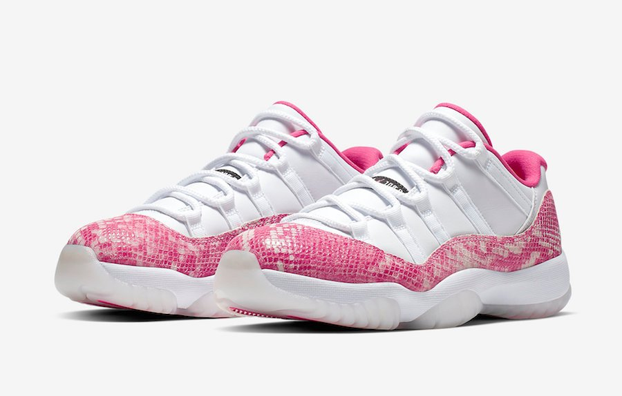 Air Jordan 11 Low Womens Pink Snakeskin AH7860-106 Release Info Price