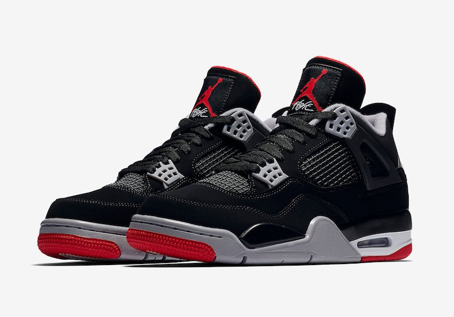 pretty nice 84035 d6398 Nike Air Jordan 4 Bred Black Red 2019 Release Date ...